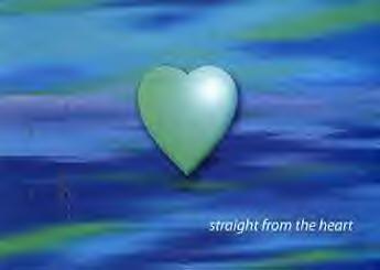 Grünblaues Herz
